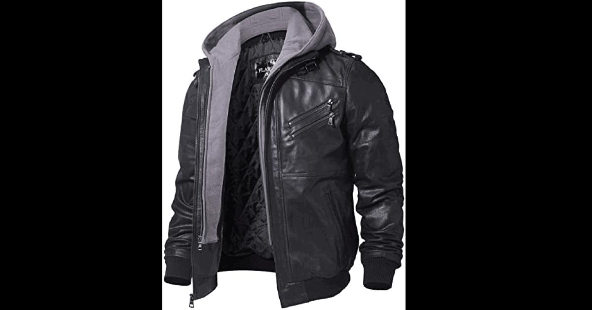 Mens Brown Leather Motorcycle Jacket